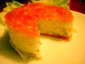 サーモンのイタリアンな押し寿司。