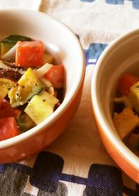 角切り緑黄色野菜のカラフルホットサラダ☆