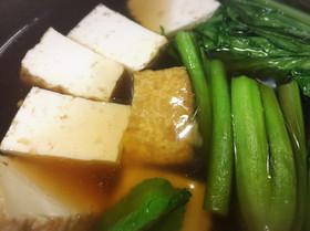 生揚げと小松菜のあんかけ煮