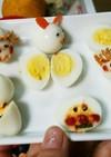 うずらの卵をデコレーション♪