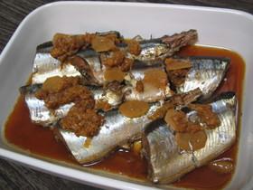 圧力鍋★骨までおいしい秋刀魚の梅干煮