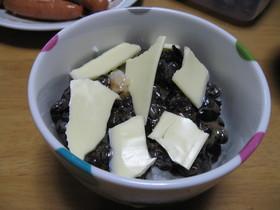 ∮黒豆納豆×チーズ×ごはん∮