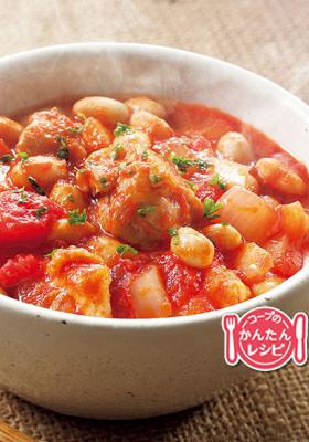 大豆と鶏のトマト煮