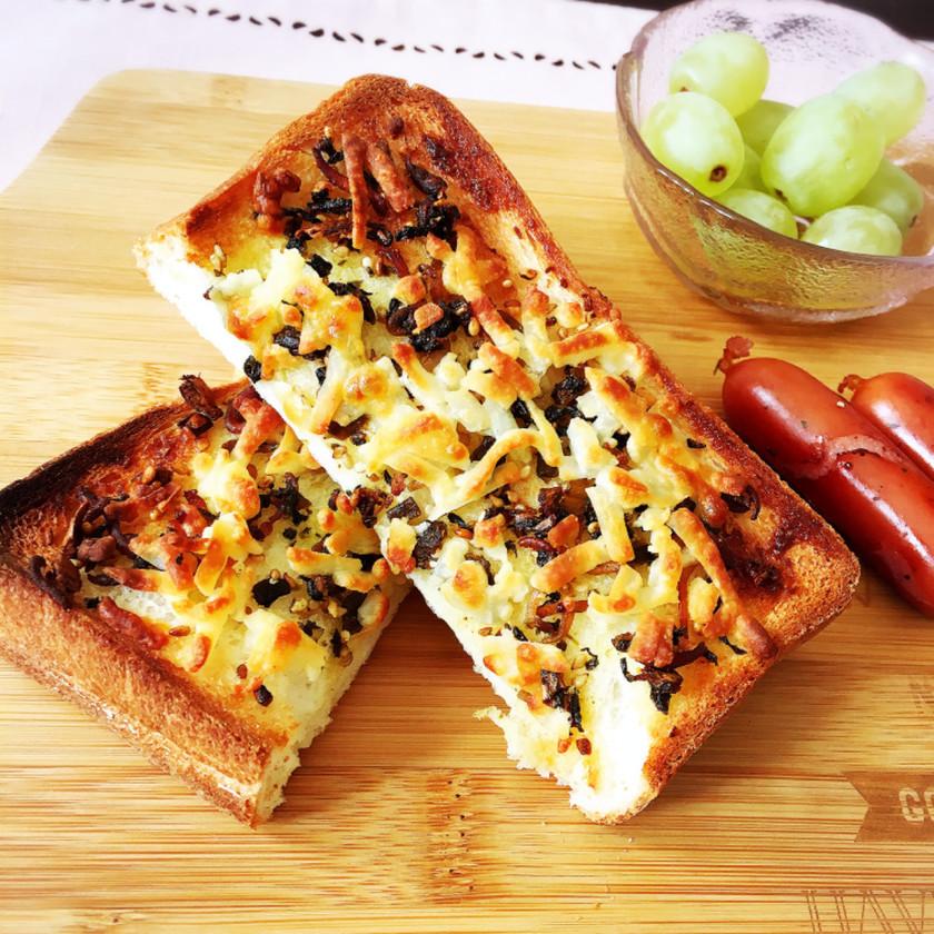 朝食に♡おかずトースト♡