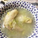 身体に優しい鶏手羽先の生姜スープ