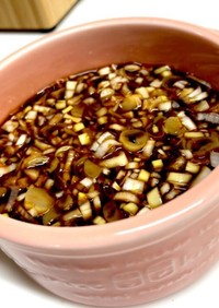 湯豆腐に♪簡単「葱醤油のタレ」