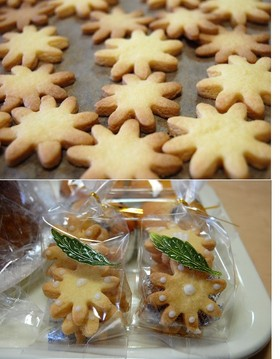 型抜きクッキー&レモンアイシング