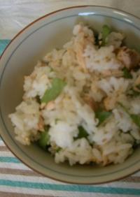 秋鮭と大葉の混ぜご飯