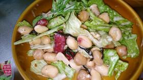 水煮豆で簡単ごまサラダ☆