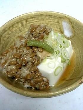 私の定番!納豆豆腐のわさび風味