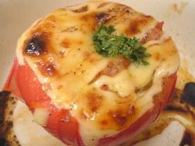 ポン酢マヨの焼きトマト
