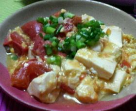 豆腐と卵がやさしくトマトを包みます