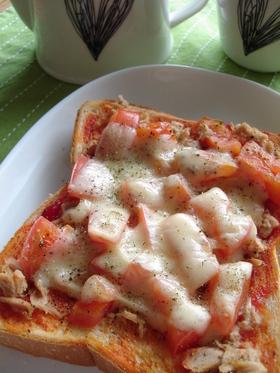 ツナとトマトのトースト