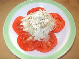 ツナ、玉ねぎ、トマトサラダ