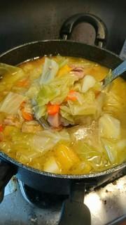 風邪と戦う!鶏と野菜のビタミンスープの写真