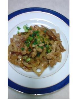 レンコン&豚肉の甘辛