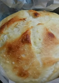 ストウブ鍋で低温発酵、こねないパン