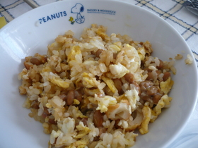 シラタキでヘルシー納豆柚子胡椒チャーハン