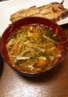 水菜と根菜のお汁