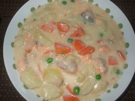 グリーンピースと鮭のクリーム煮