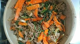 有るもので 薩摩芋春雨の簡単チャプチェ