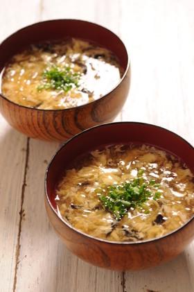 糸寒天の中華風スープ