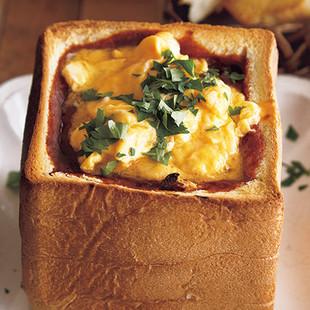 卵とろ~り!ハッシュドビーフポット食パン