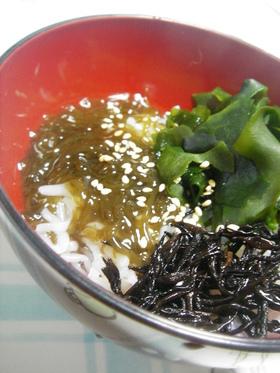 ダイエットに★白滝de海藻たっぷり~冷麺