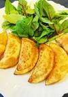 ツナキムチーズの餃子の皮カルツォーネ