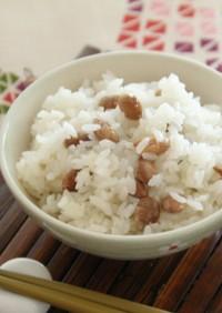 煎り豆ご飯*東京ガス