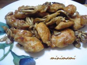 鶏胸肉とキノコのこってり甘辛炒め