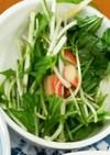 超絶簡単☆☆水菜とカニかまの中華サラダ