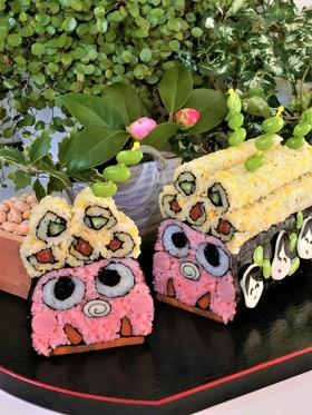 節分*鬼の飾り巻き寿司ケーキ*恵方巻き