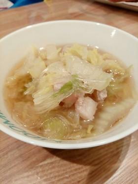 満腹☆白菜と豚バラの春雨スープ(鍋)