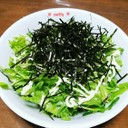 豆苗とフリルレタスのサラダ