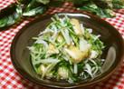 水菜と油揚げとしらすの炊き合わせ