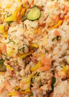 鮭、大葉、たくあんの混ぜご飯