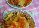 お弁当。野菜、ケチャップソース炒め。