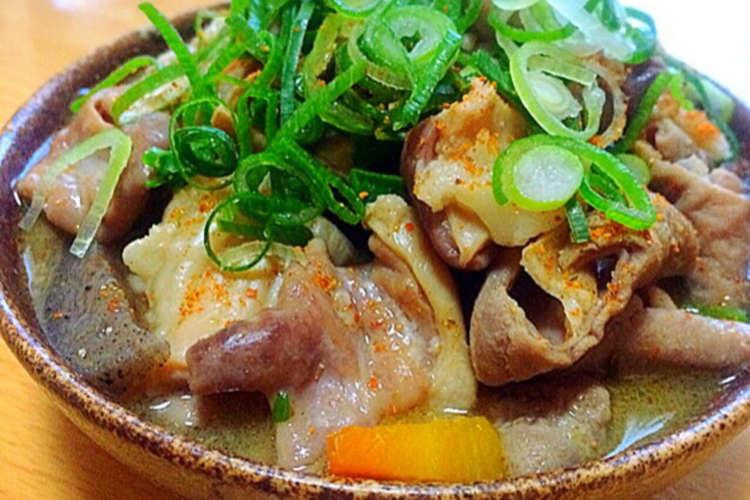 もつ 煮 の 作り方 永井食堂モツ煮レシピ!群馬の美味しいもつ煮込みの作り方