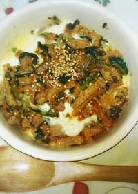 味噌豚の超簡単豆腐グラタン♡