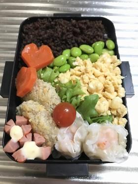 お弁当114★20170120三色丼