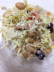 キャベツと蒸し大豆のサラダ☆の写真
