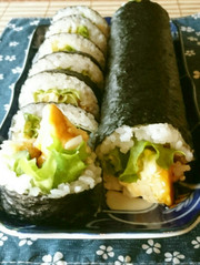 節分の恵方巻にも♪チキン南蛮の巻寿司の写真