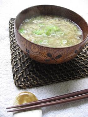 キクラゲとモヤシのかき卵スープ