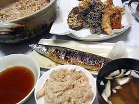 土鍋で松茸ご飯