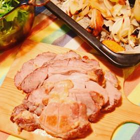 シンプルローストポークと野菜のロースト