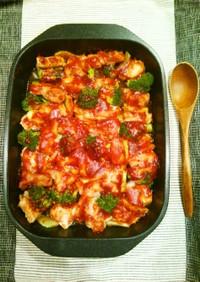 豚肉とブロッコリーのマスタードソース焼き