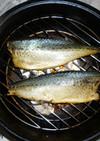 長谷燻鍋で生ずし(しめ鯖)の燻製