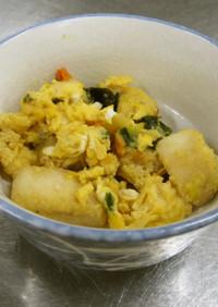 フリーズドライの味噌汁でお麩の卵とじ