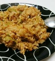 パパッと簡単♡納豆キムチ炒飯の写真